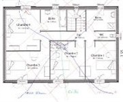 recherches réseaux hartmann curry-veines eau-puits sur un plan de maison